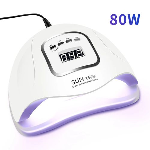 LED Nails Lamp For Manicure 80W Nails Dryer Machine UV Lamp For Curing UV Gels Nails Polishs With Motion Sensing LCD Display