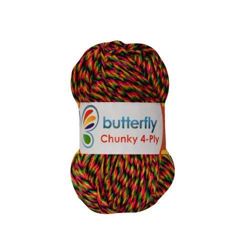 5 Rainbow Chunky Knitting Crochet Yarn