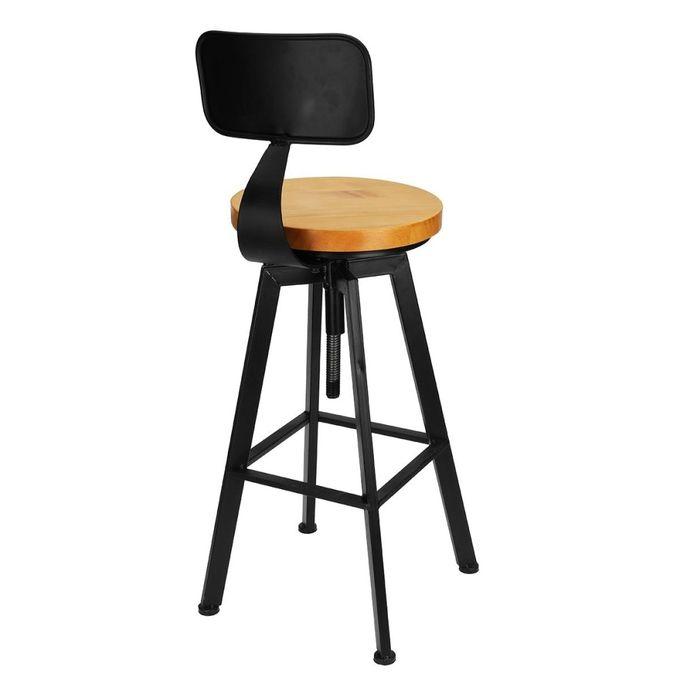 Miraculous Vintage Retro Rustic Kitchen Metal Breakfast Bar Stool Kitchen Counter Chair Ibusinesslaw Wood Chair Design Ideas Ibusinesslaworg