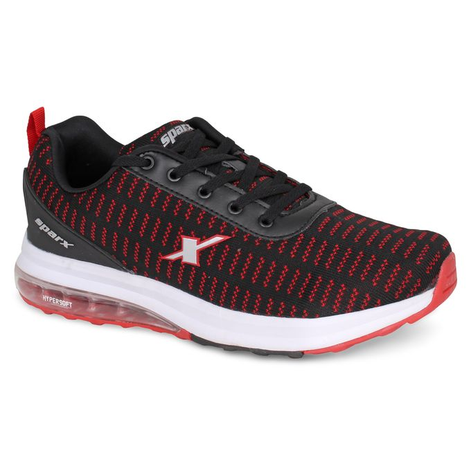 product_image_name-Sparx-Black Red SM 432 - Men Sport Shoes-1