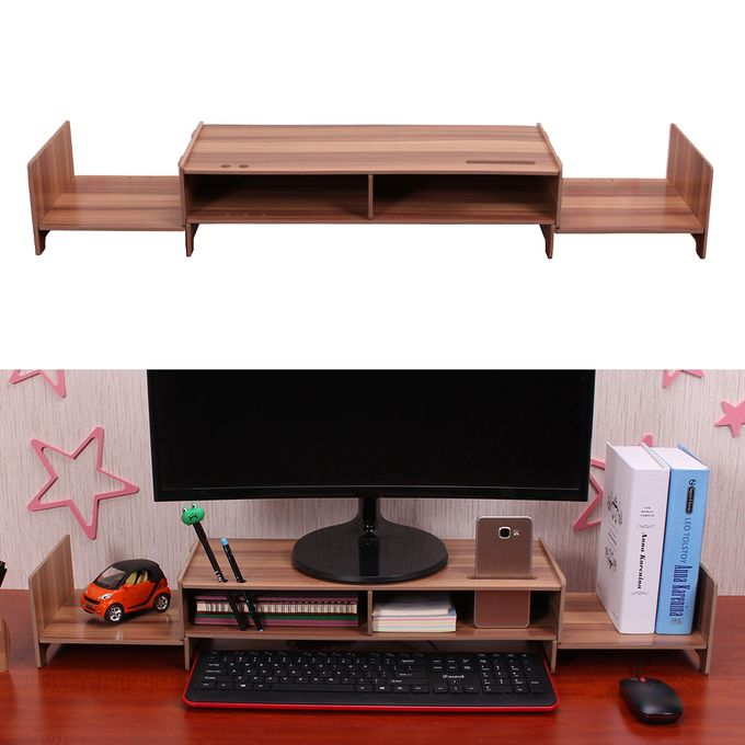 Diy Multipurpose Monitor Stand Riser Large Desk Organizer Wood Transformable Design For Office School Home