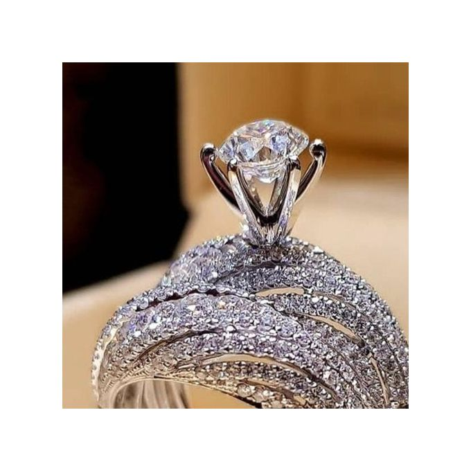 Fashion Couple Rings Diamond Engagement Ring Wedding