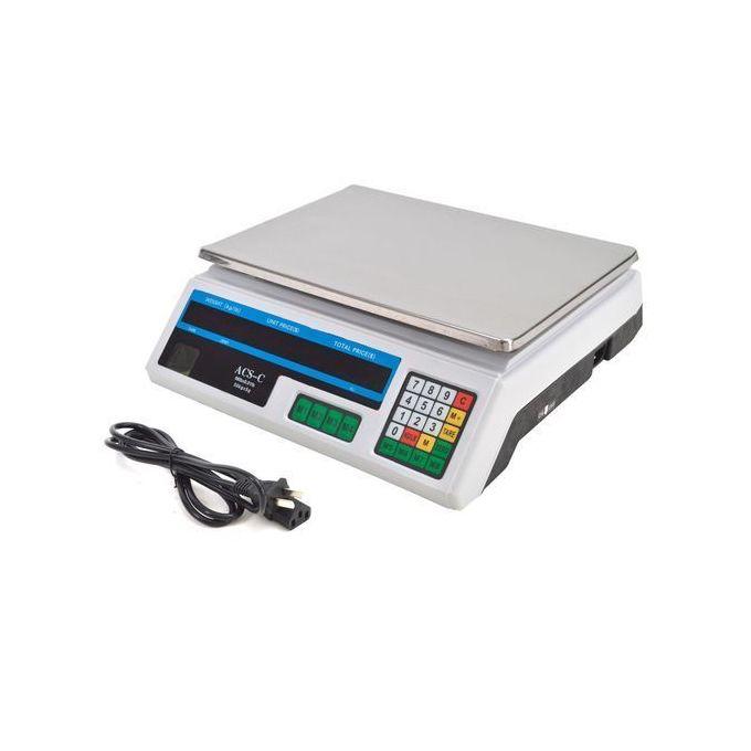 New ACS Heavy Duty Computerized Digital Weighing Scale Flat 30kg