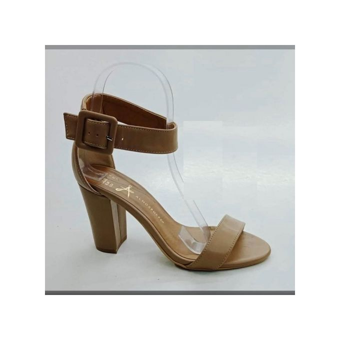 Women Shoes - product_image_name-Fashion-Chunky Open Toe Adjustable Ankle Strap Heel-1