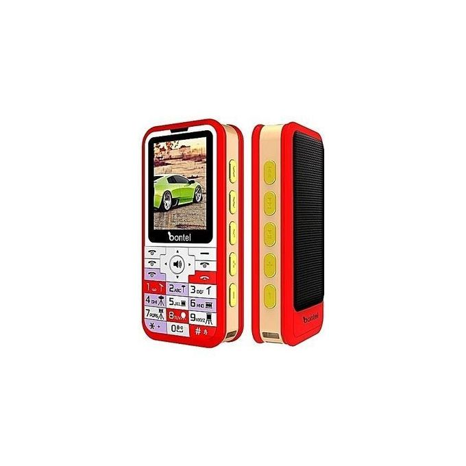 "Bontel Music King- 2.8"" - 4 Sim Cards- 15000mAh Battery- Red @ Best Price Online 