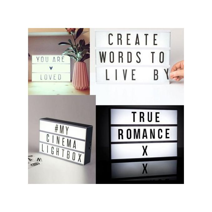 Letter Light Boxes.90 Letter Cards Replacement Fit For Cinematic Light Box Cinema Letter Light Box