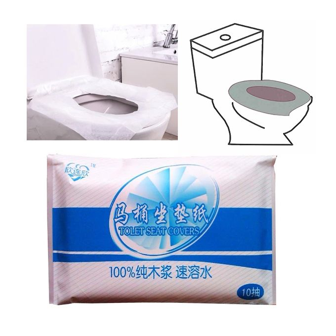 Superb 10Pcs Protable Toilet Seat Cover Closetool Biodegradable Sanitary Disposable Paper Alphanode Cool Chair Designs And Ideas Alphanodeonline