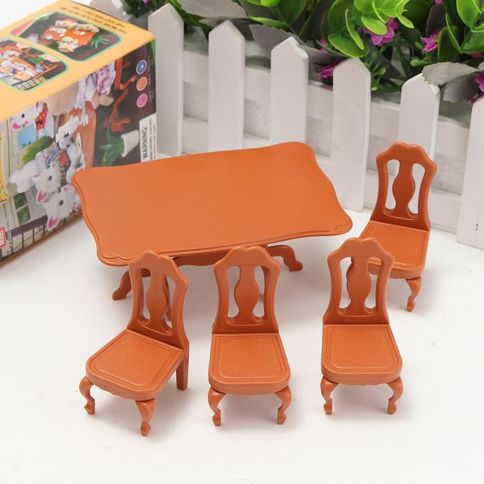 Generic 1 12 Modern Wooden Dining Room Table 4 Chairs Dolls House Miniature Furniture Best Price Online Jumia Kenya