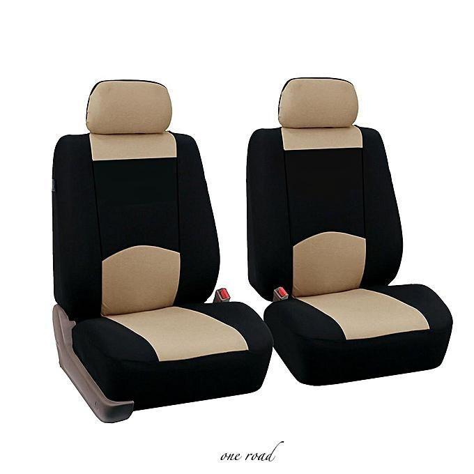 generic general purpose vehicle seat cover polyester fiber  heads beigeblueredgrey  truck
