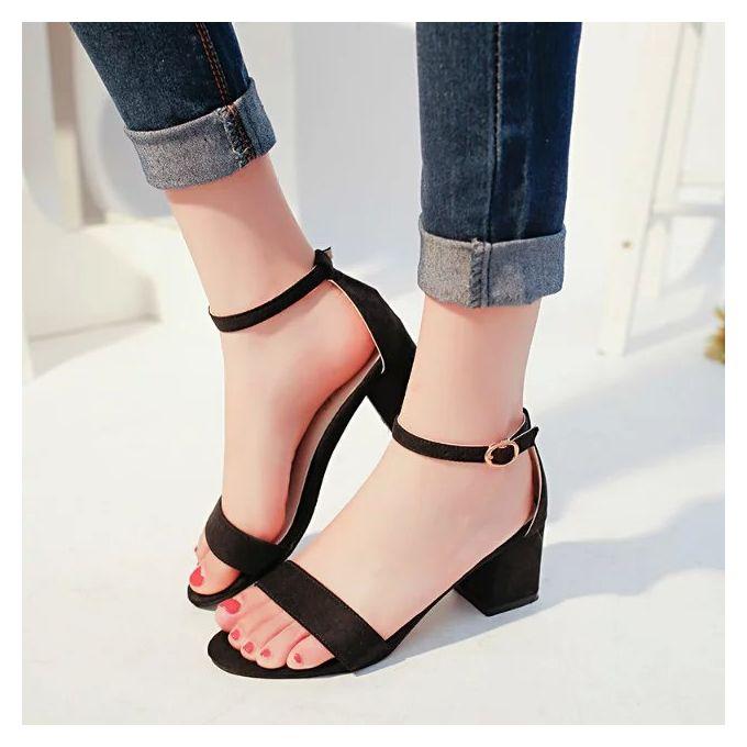 Fashion Women S Class High Heels Sandals Black Best Price Online Jumia Kenya