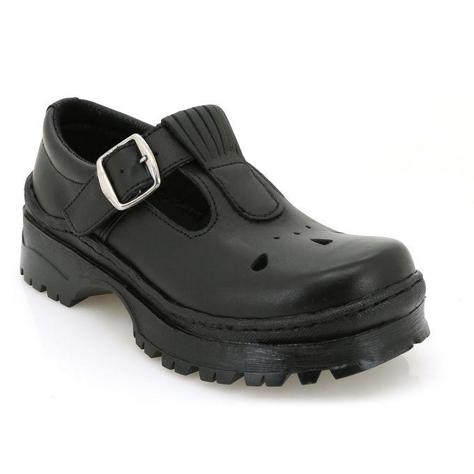 Toughees Black Girls School Shoes