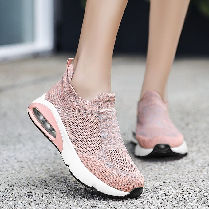 product_image_name-Fashion-Big Size Women Sneaker Female Sports Shoes-Pink-2