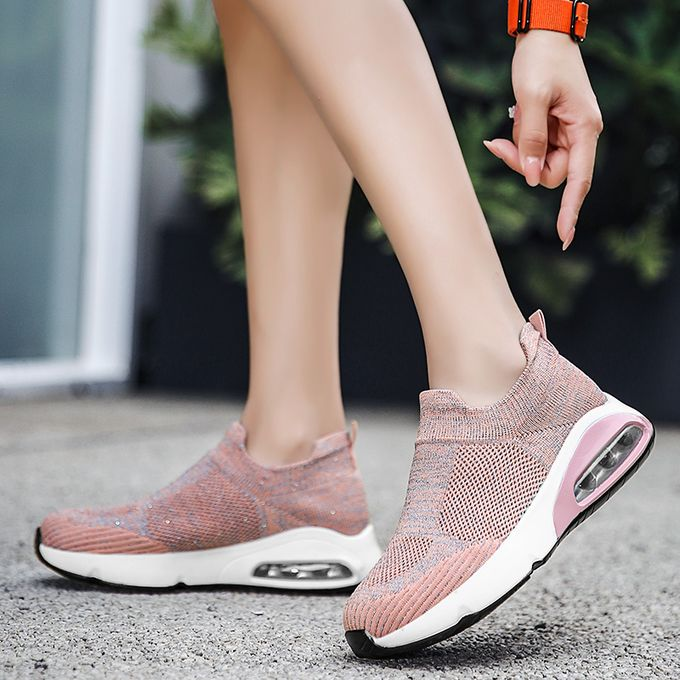 product_image_name-Fashion-Big Size Women Sneaker Female Sports Shoes-Pink-3
