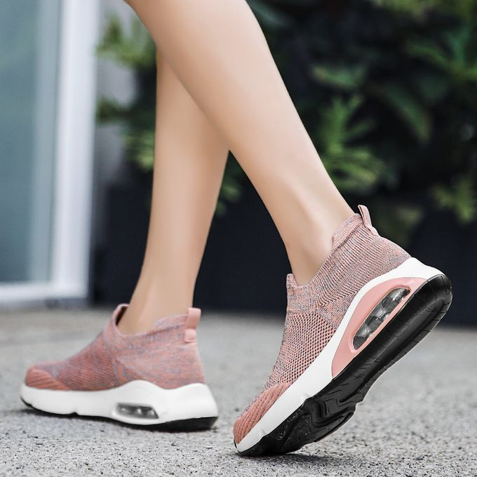 product_image_name-Fashion-Big Size Women Sneaker Female Sports Shoes-Pink-4