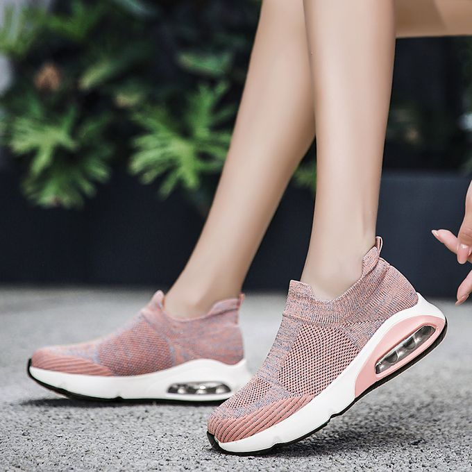 product_image_name-Fashion-Big Size Women Sneaker Female Sports Shoes-Pink-6