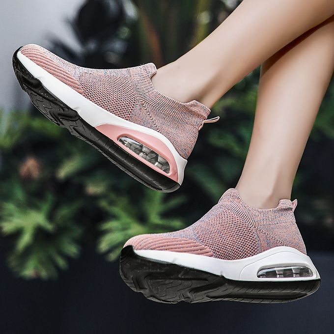 product_image_name-Fashion-Big Size Women Sneaker Female Sports Shoes-Pink-8