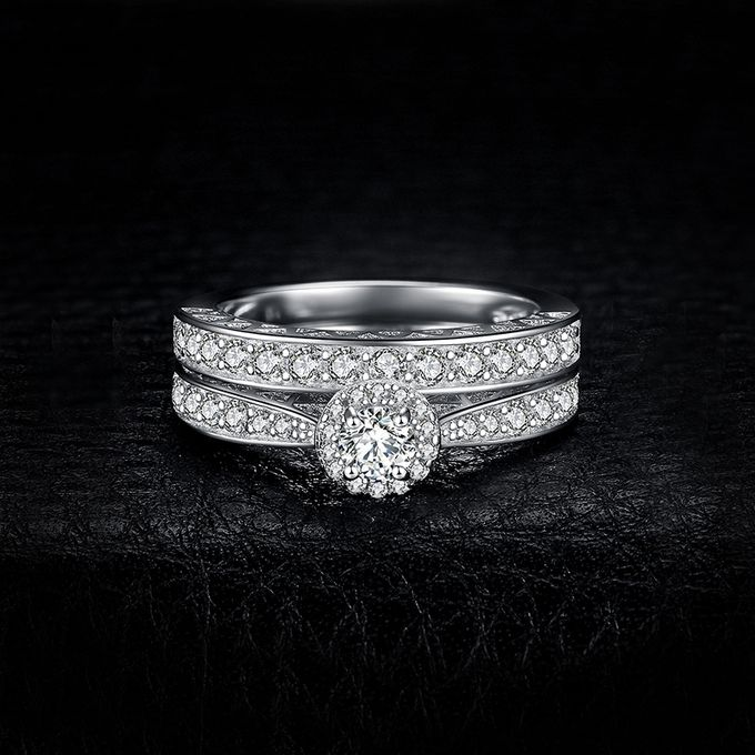 Fashion JewelryPalace Wedding Engagement Ring 925 Sterling