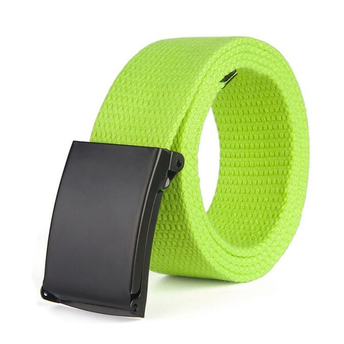 Fashion Boys/' Men/'s Plain Webbing Waist Belt Waistband Unisex Casual Canvas Belt