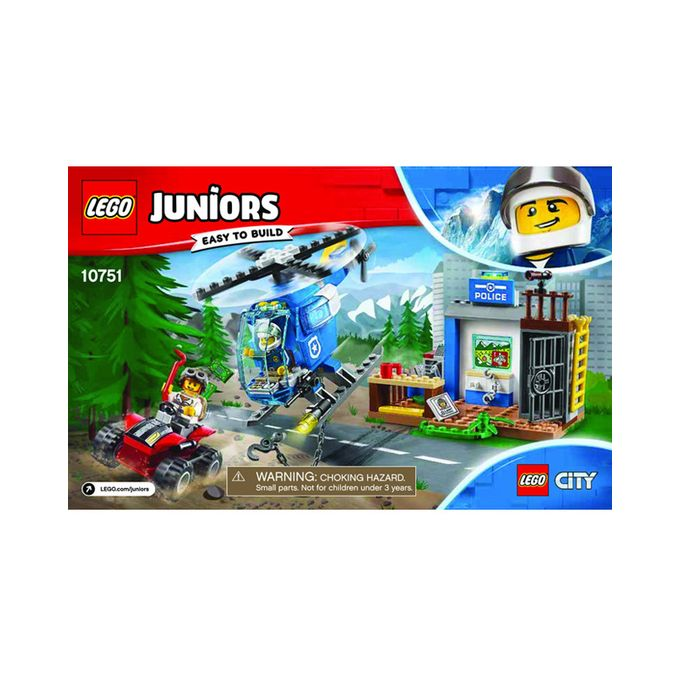 LEGO Juniors//4 Mountain Police Chase 10751 Building Kit 115 Piece