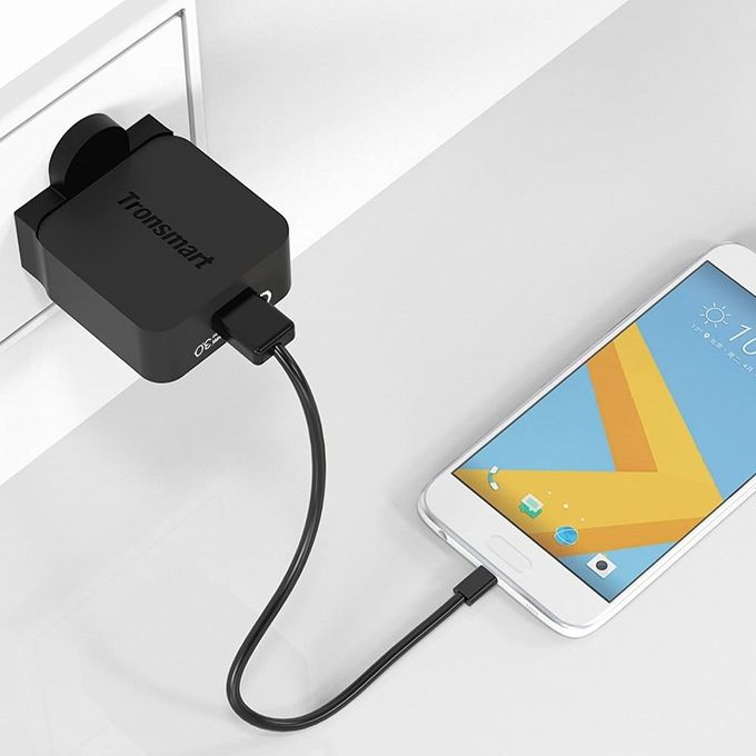 Tronsmart 18W WC1T Quick Charge 3 0 USB Wall Charger for Galaxy S7, Note 7,  HTC 10, LG G5 QTG-W