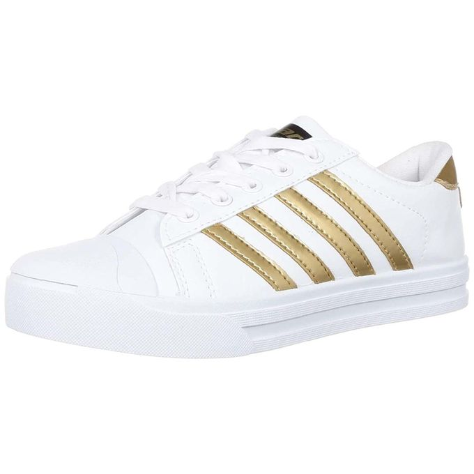 product_image_name-Sparx-Ladies Casual Canvas Shoes - White Gold-1