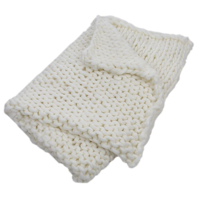 Surprising Super Chunky Hand Knit Throw Blanket Crochet Warm Thick Bulky Knitted Soft Sleek Big Sofa Living Room Handwoven 31 5X39 4In Bralicious Painted Fabric Chair Ideas Braliciousco
