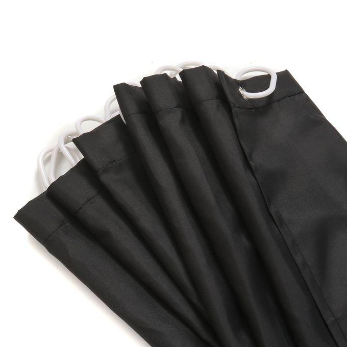 Generic Waterproof Black Polyester Shower Window Curtain