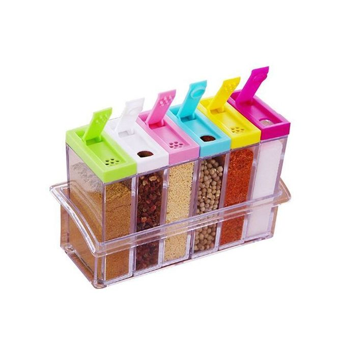 New 6pc Beautiful Organisable Spice Rack