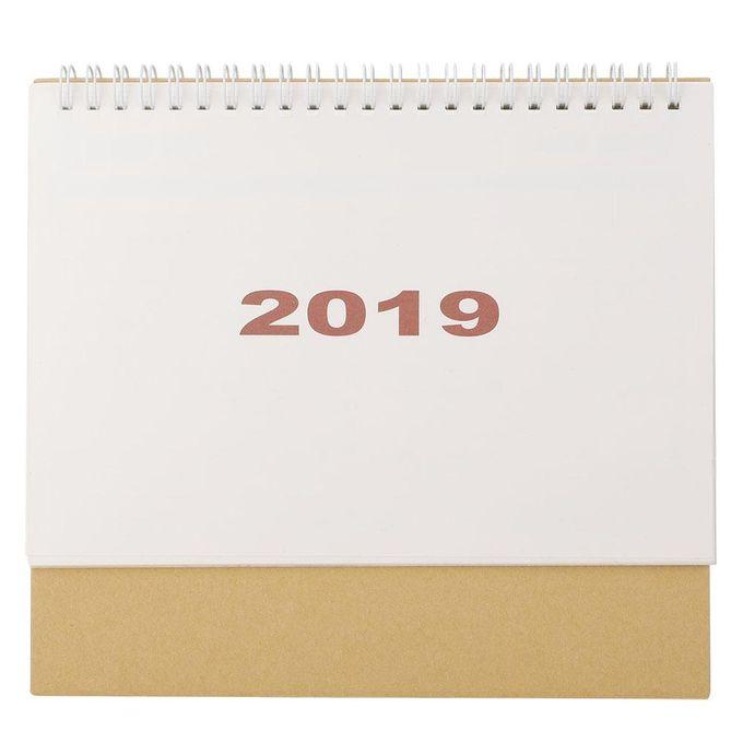 Generic 2019 Simple Style Desk Calendar Monthly Mini