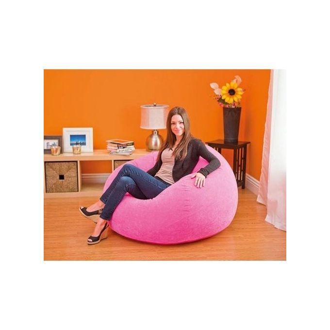 Marvelous Beanless Bean Bag Chair Pink Dailytribune Chair Design For Home Dailytribuneorg