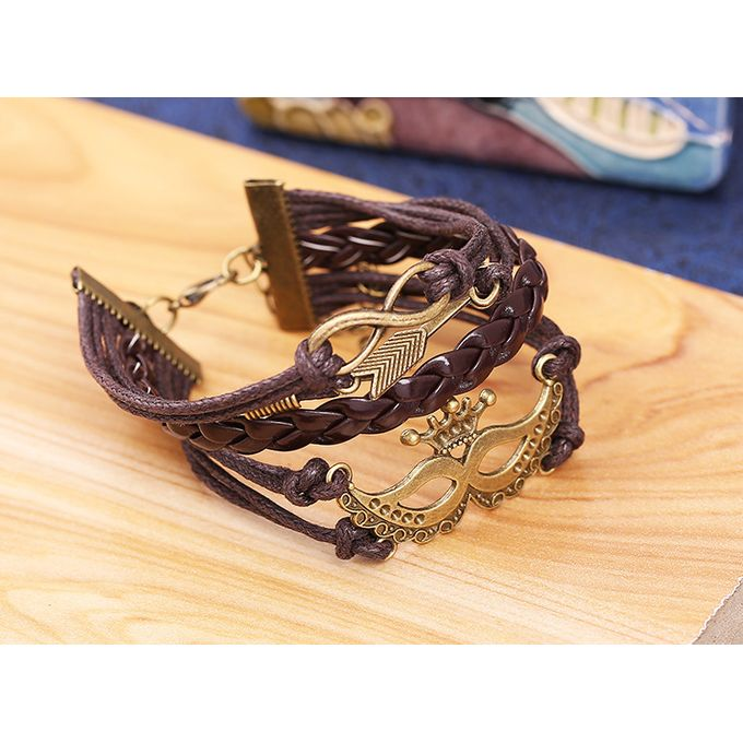 Unisex Diy Leather Bracelet Monogram Bracelet Small Commodities Support Small