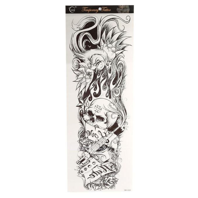 Temporary Fake Full Arm Neck Body Art Tattoo Transfer Sticker