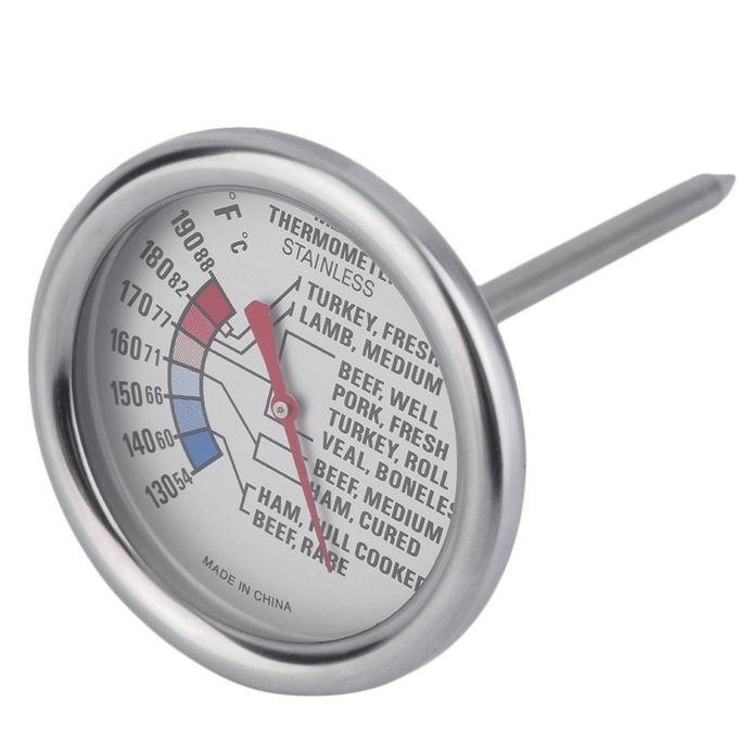 Generic Home Kitchen Meat Thermometer Stainless Steel Food