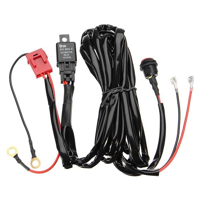 12V 40A LED Work Fog Light Bar Wiring Harness Relay Kit ON/OFF Switch Ke Light Switch Wiring Harness on light accessories, light switches, light control module, light transformer, light engine, light sensors,