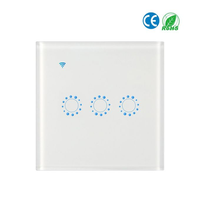 Wireless Switches WiFi Light Switch Smart Wall Work with Alexa Echo Google  Home Assistant Controll APP Touchable Light Switch Phone IOS UK EU 1 2 3