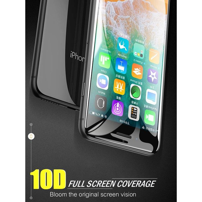 Cooho Iphone Xs Xs Max Xr X 8 Plus 7 Plus 8 7 Screen Protector 10d Full Coverage 3d Touch Hd Tempered Glass Film Black Iphone Xs Max