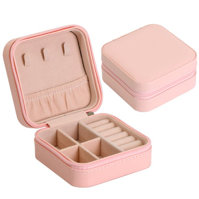 Small Portable Travel Jewelry Box Organizer Storage Case For Rings Earrings Necklaces