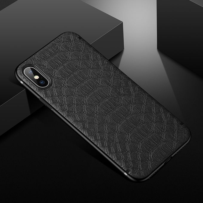 Crocodile Texture Leather Case With Magnetic For Iphone X Xs Xr Xs Max Funda Capa For Iphone 6 7 8 Plus Protect Cover Black Bdz