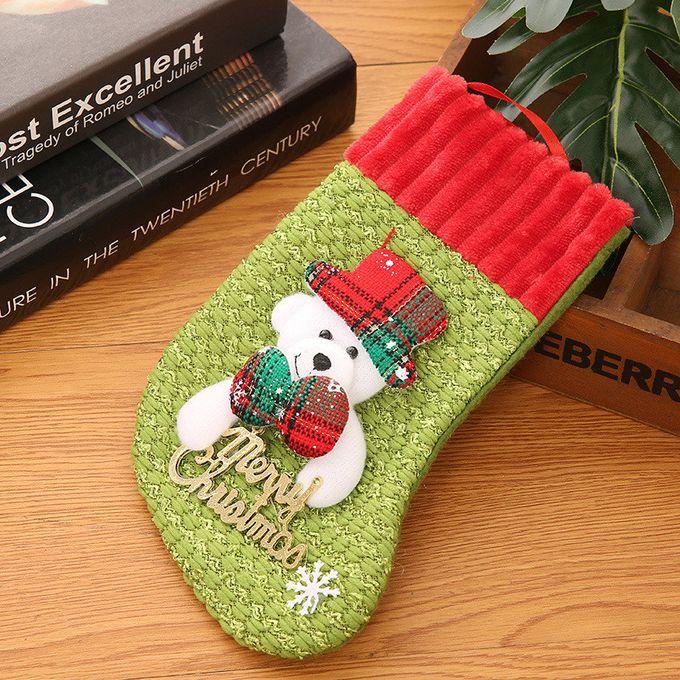 Christmas Stockings Socks Santa Claus Candy Gift Bag Xmas Hanging Decor