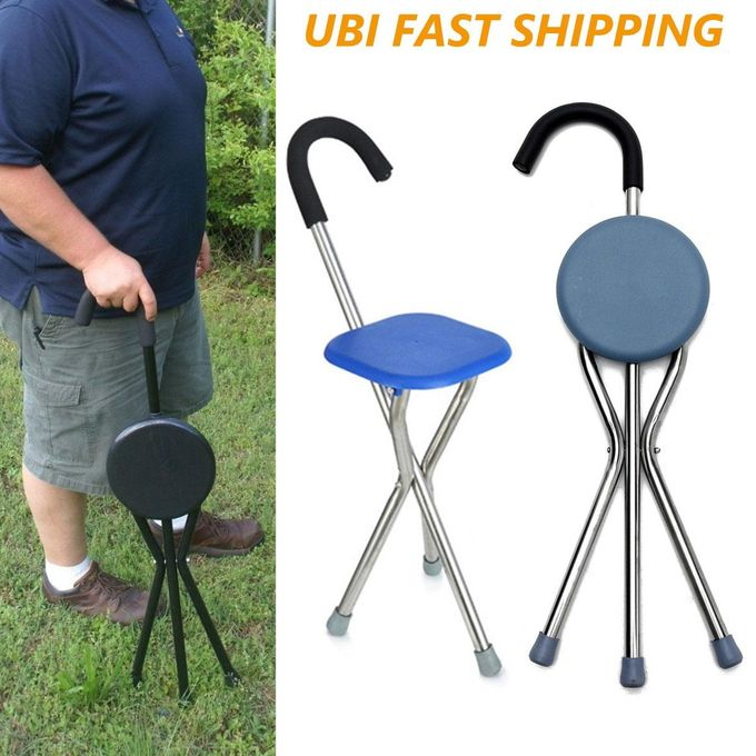 Admirable Outdoor Travel Folding Stool Chair Portable Cane Walking Stick Seat Camping Hiking Picnic Caraccident5 Cool Chair Designs And Ideas Caraccident5Info