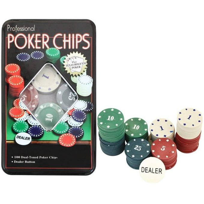 Poker Chips 100pcs Professional Poker Chips Texas Hold Em In Metal Box Best Price Online Jumia Kenya