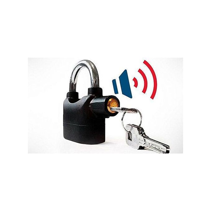 product_image_name-Kin Bar-Alarm Padlock Lock - Black-1