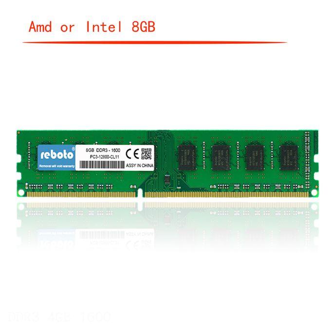 DDR3 8GB ram 1600 1333 no ecc Desktop PC Memory 240pins System High  Compatible INTEL OR AMD(Memory Capacity: 8GB 1600 for Intel)