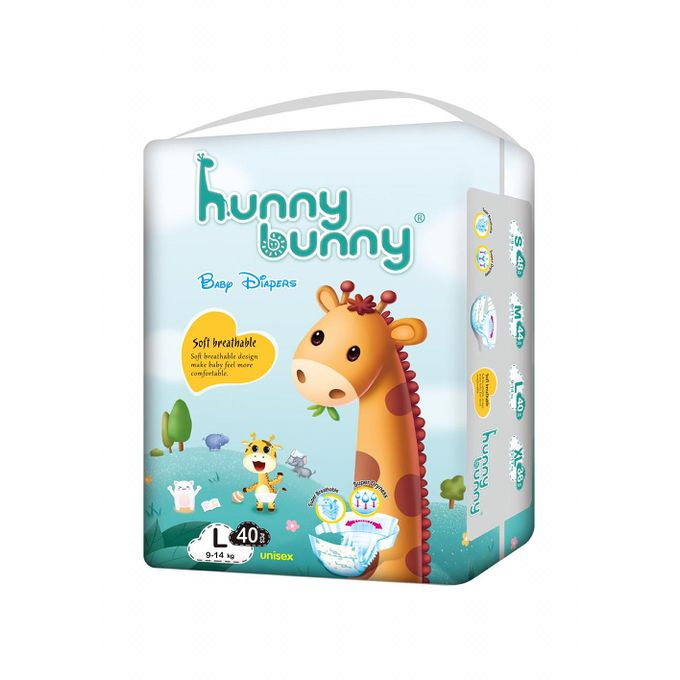 Hunny Bunny Baby Diapers Large (9-14 kg) 40 pieces @ Best ...