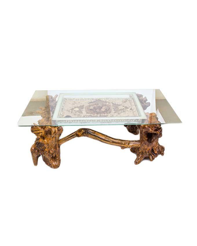 ART & WISDOM Ocean Life Coffee Table - Beige