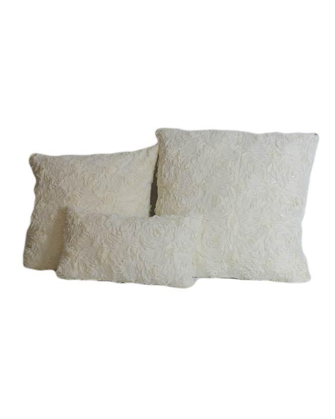 Oversized White Decorative Pillows : Sirocco Rose Pattern Decorative Pillow - Large - White Buy online Jumia Kenya
