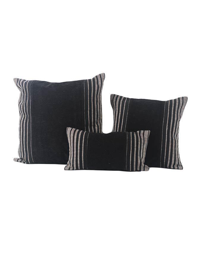Small Black Decorative Pillow : Sirocco Black Decorative Pillow with Stripes - Small Buy online Jumia Kenya