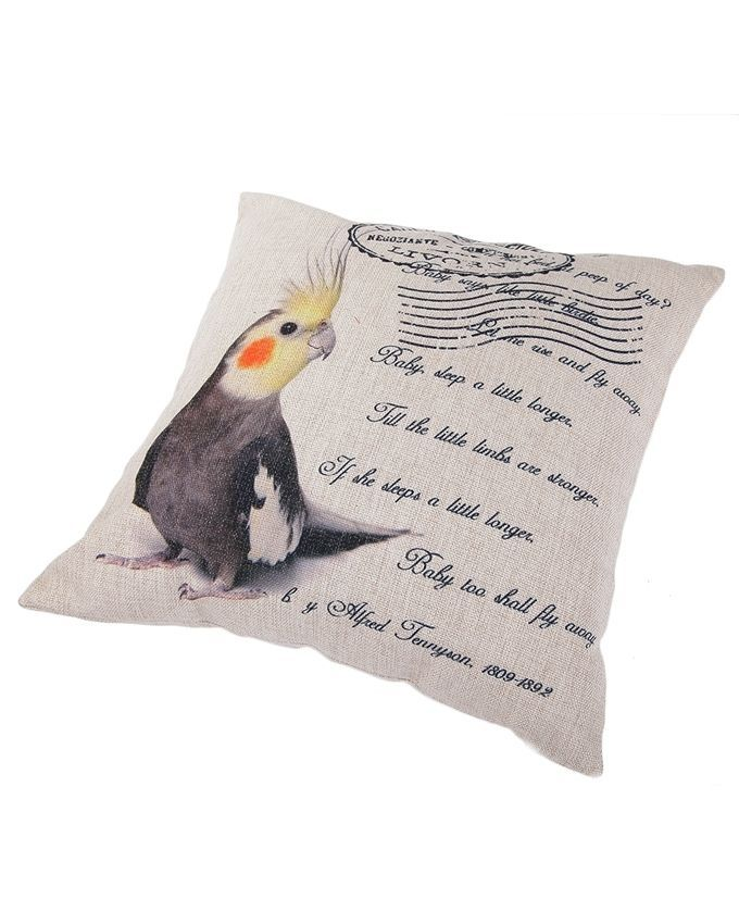 Throw Pillow Jumia : Ovonni Q174 - Postcard 18 Inch Square Linen/Cotton Throw Pillow Buy online Jumia Kenya
