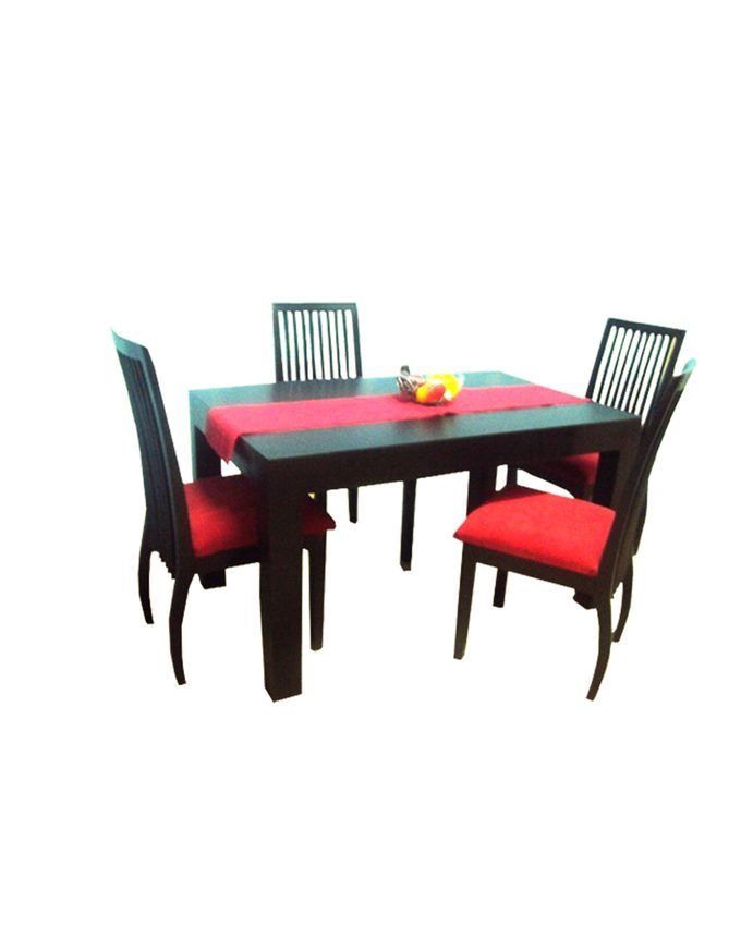 Neo Interiors Furniture Farah Dining Table With 6 Chairs 104 X 183 X 76 Mahogany Buy