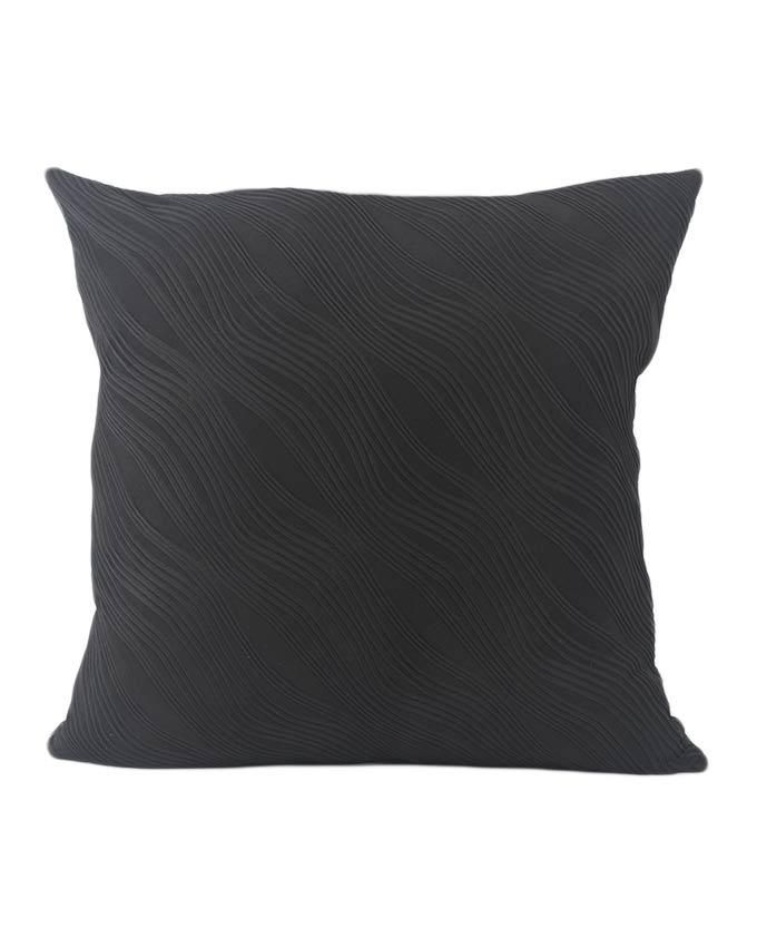 Throw Pillow Jumia : Sirocco Wavy Patterned Decorative Pillow - Medium - Black Buy online Jumia Kenya